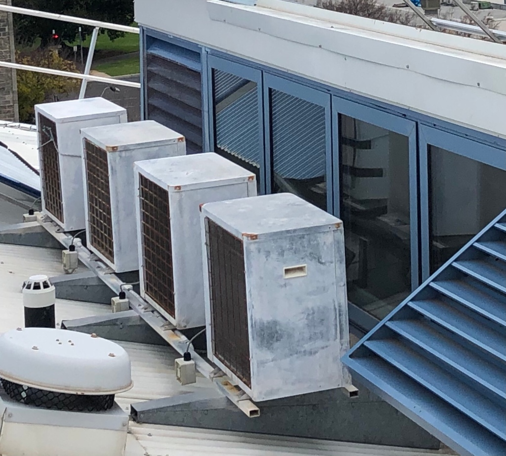 Quantum evaporator units on the roof