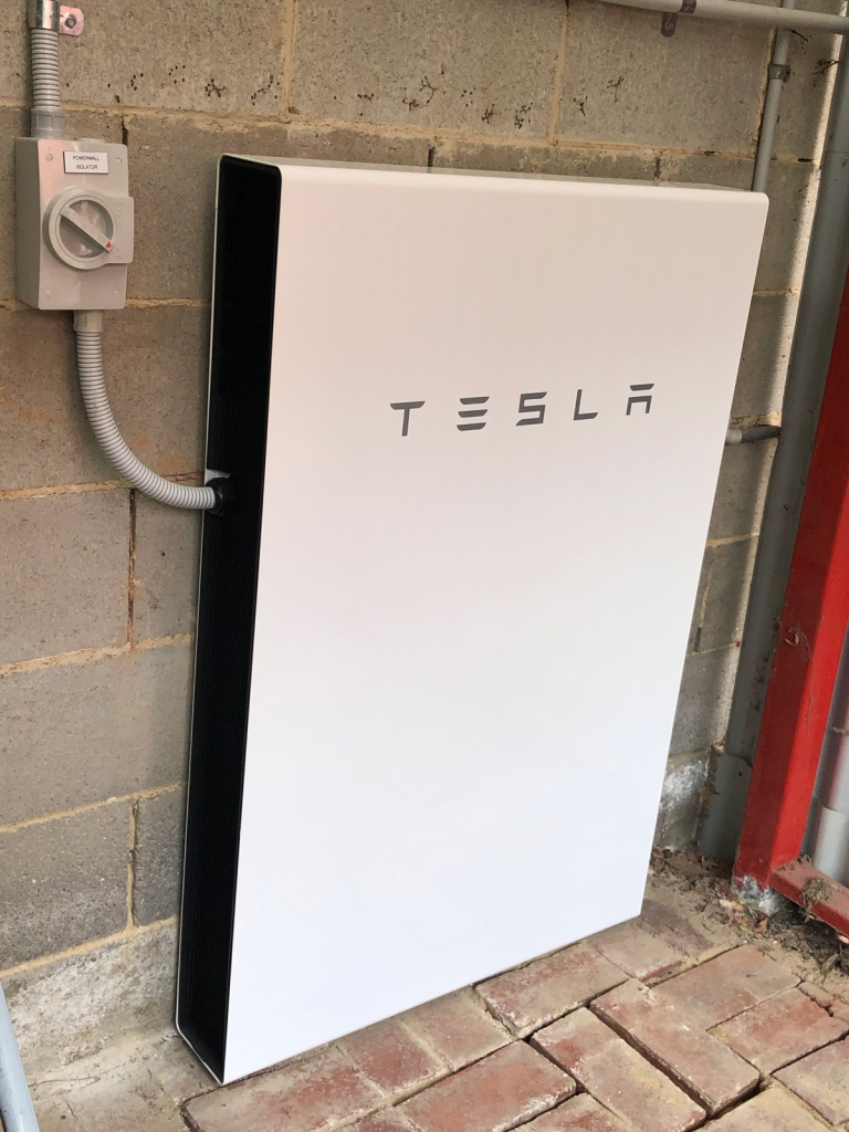 Tesla PowerWall 2 in place in our shed